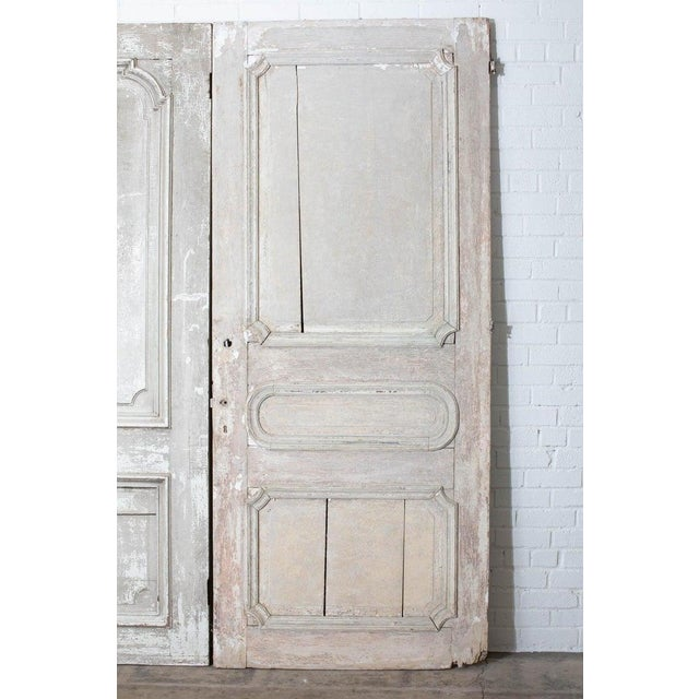Rustic Pair of 19th Century French Painted Panel Doors For Sale - Image 11 of 13