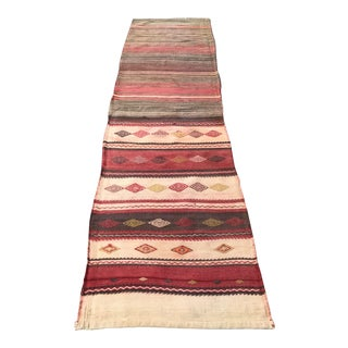 Antique Kilim Runner Rug - 2′4″ × 9′10″ For Sale