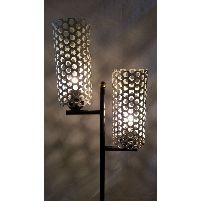 Metal French Mid-Century Modern Floor Lamp For Sale - Image 7 of 8
