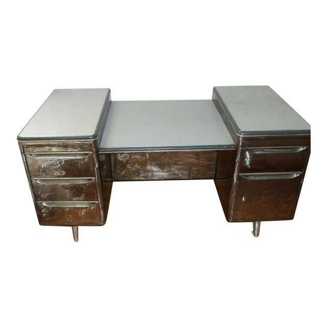 Vintage Tanker Desk - Image 1 of 9