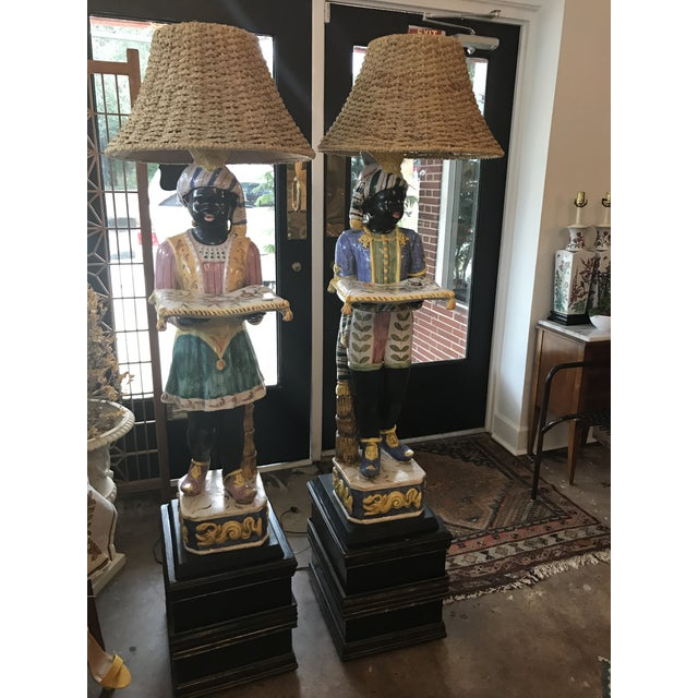 Vintage Blackamoor Floor Lamps - A Pair - Image 5 of 6
