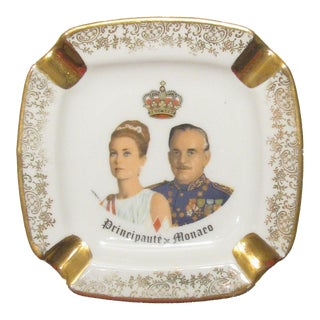 Princess Grace & Prince Ranier III of Monaco Ashtray, C. 1960