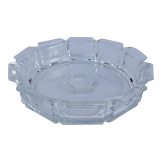 Modern Lucite Fluted Server Center Bowl