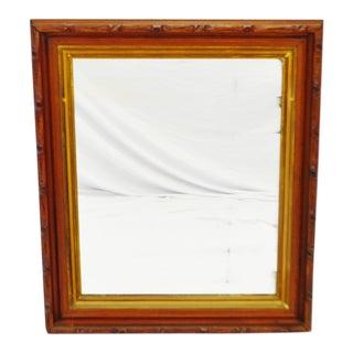 Vintage Framed Carved Wood Wall Mirror For Sale