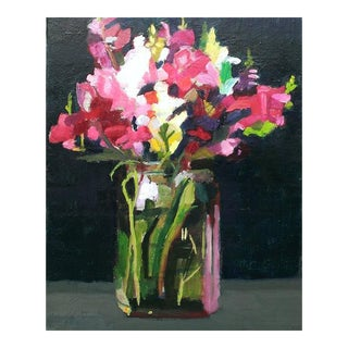 Christine Averill - Green, Summer Bouquet 2 Painting, 2015 For Sale