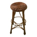 Image of Counter Height Wicker Stool For Sale