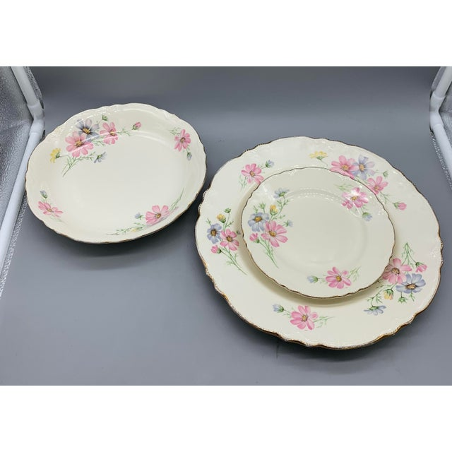 1940s Vintage Homer Laughlin's Virginia Rose Dinner Plates- 21 Pieces For Sale In Los Angeles - Image 6 of 10