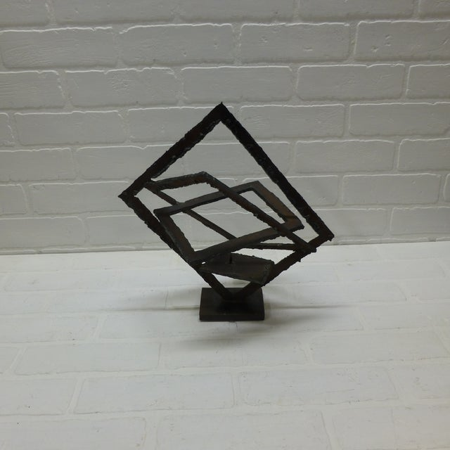 Mid-Century Hand Forged Brutalist Sculptural Candle Holder For Sale - Image 11 of 11