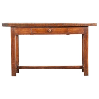 English 19th Century Beech Server Console For Sale