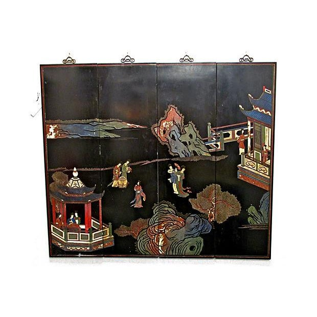 Japanese Carved Panels - Set of 4 - Image 6 of 6