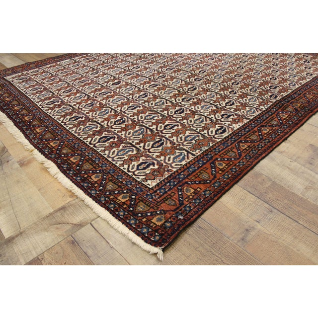 Textile Antique Persian Afshar Rug - 05'01 X 06'03 For Sale - Image 7 of 9