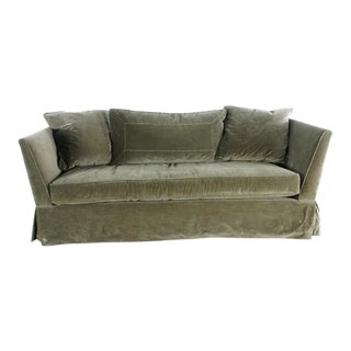 Modern Cisco Contemporary Velvet Upholstered Single Cushion Sofa For Sale
