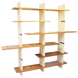 1960s Modulable Bookshelf Model 'Domino' by Eugenio Gerli for Tecno Milano For Sale