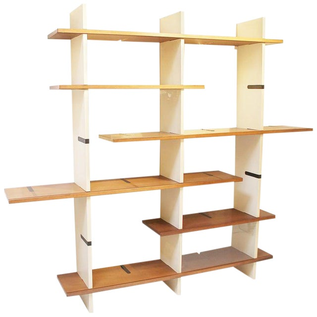1960s Modulable Bookshelf Model 'Domino' by Eugenio Gerli for Tecno Milano For Sale