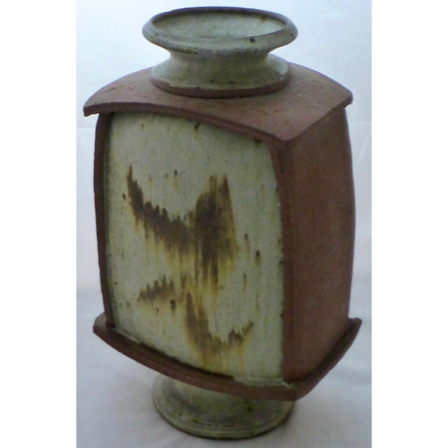 Earthtone Studio Pottery Vase by Vermont Artist Robert Deeble - Image 2 of 11