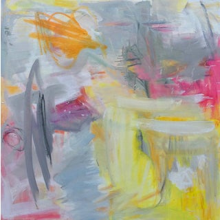 """Partially Sunny"" by Trixie Pitts Abstract Expressionist Oil Painting For Sale"