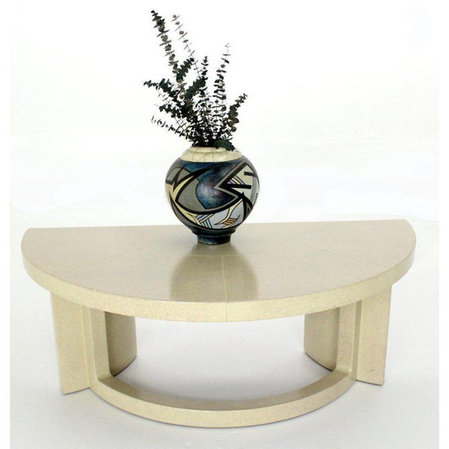 Mid-Century Modern Mid-Century Modern Paul Frankl Demilune Console Table For Sale - Image 3 of 9