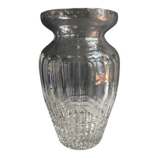 1960s Art Deco Crystal Vase For Sale