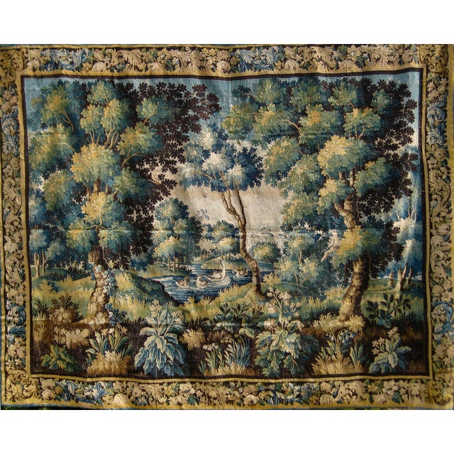 Exceptional Flemish verdure tapestry, colors are superb, wonderful size and beautiful composition, this piece has for sure...