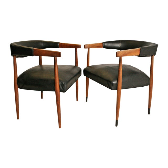 Danish Modern Accent Chairs - Pair - Image 1 of 11