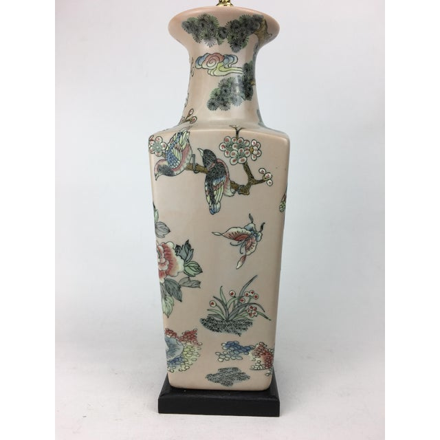 Asian 20th Century Japanese Crane Scene Vase Lamp For Sale - Image 3 of 6