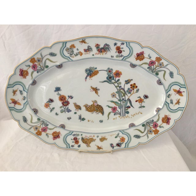 "French Haviland Limoge ""Golden Quail"" Oval Platter For Sale - Image 3 of 7"