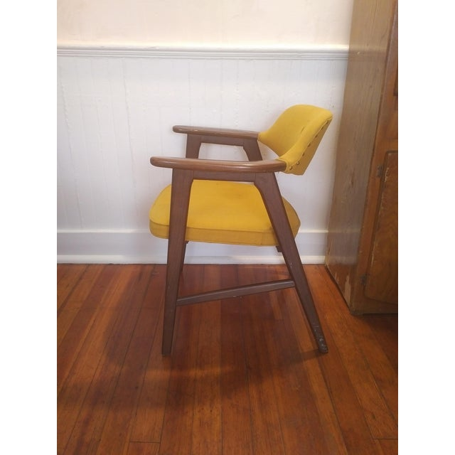1960s 1960s Danish Modern Paoli Yellow Padded Chair For Sale - Image 5 of 11