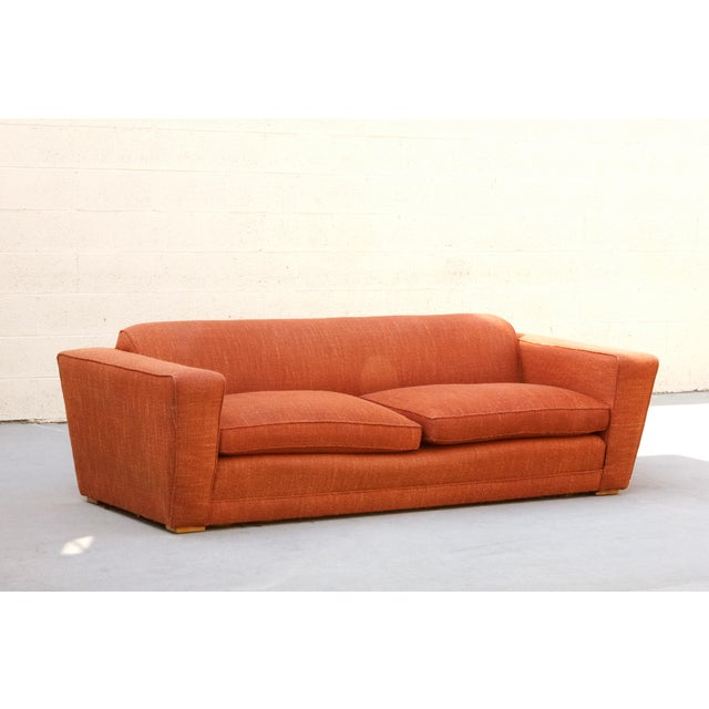 Rare art deco club/ speed sofa by acclaimed art deco designer Paul Frankl. Iconic streamline design. Structurally in very...