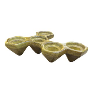 Massimo Baldelli Ceramic Candle Holder For Sale