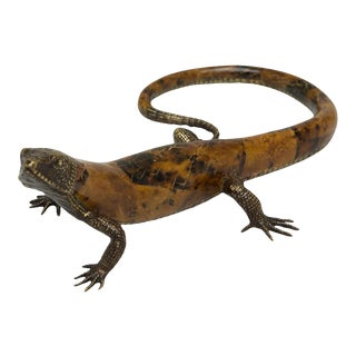 Scarborough House Lizard Brass Crazy Paperweight For Sale