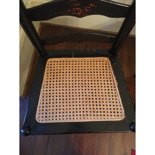 Rustic Ladder Back Cane Chairs - A Pair - Image 4 of 6