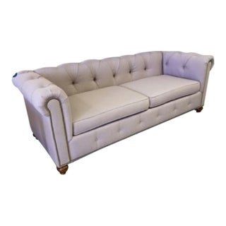 Lavender Chesterfield Nailhead Sofa For Sale