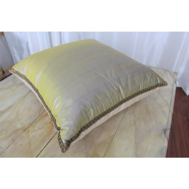 Isabelle H. Dual Color Metallic Silk Pillow - Image 3 of 7