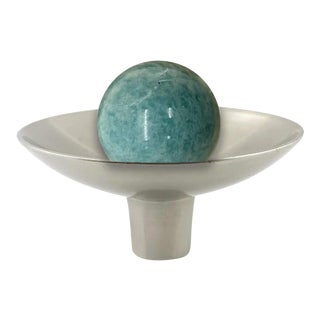 Addison Weeks Gibson Knob, Pewter & Amazonite For Sale