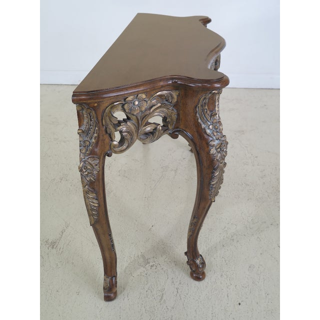 Modern Italian Carved Console Table For Sale - Image 4 of 11