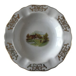 Petite Mid-Century Bavarian Ashtray With Farm Scene For Sale