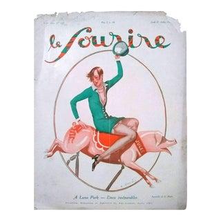 """G. Pavis 1927 """"A Luna Park"""" Le Sourire Print For Sale"""