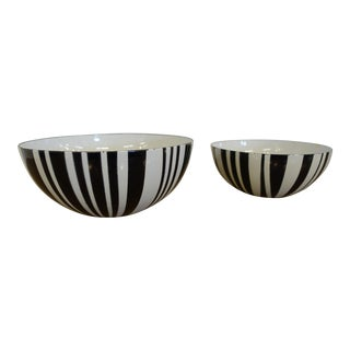 Mid-Century Modern Enamel Bowls - a Pair For Sale
