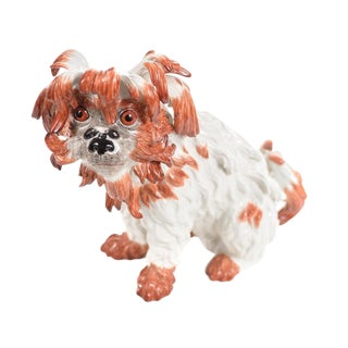 Meissen Original Bolognese Terrier Porcelain Figure For Sale
