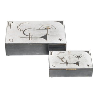 Pair of Art Deco Boxes, Germany, 1930s For Sale
