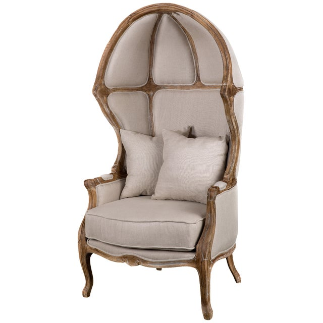 Beige Balloon Accent Chair For Sale
