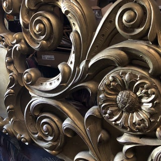 1970s Vintage King Size Rococo Inspired Headboard Preview