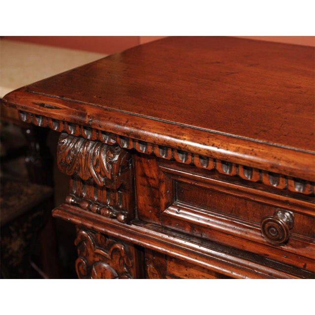 Baroque 18th Century Italian Baroque Style Walnut Credenza For Sale - Image 3 of 7