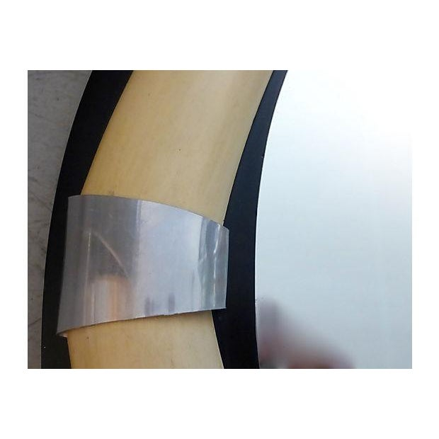 """Round Mirror With Elephant and """"Tusks"""" - Image 4 of 5"""
