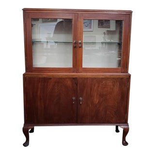 Traditional Mahogany Display Cabinet C.1930s For Sale
