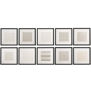 Vintage Framed Lithographs by Agnes Martin - Set of 10 For Sale