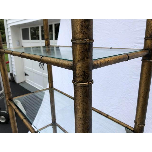 Late 20th Century Hollywood Regency Acid Washed Etagere, Faux Bamboo, 6 Shelf 1970s Mastercraft For Sale - Image 5 of 11