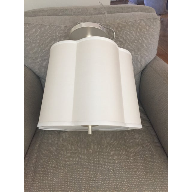 Barbara Barry Barbara Barry Scallop Pendant Light Fixture For Sale - Image 4 of 4