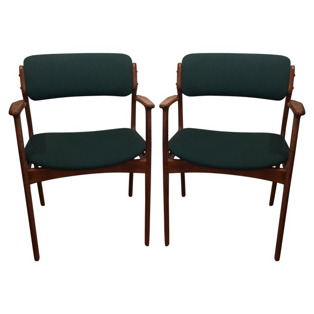 Danish Modern Erik Buch Chairs - Set of Two - Image 1 of 11