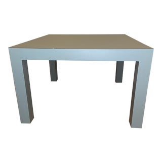 Vintage Laminate Light Blue Parsons Style Coffee Table For Sale